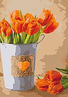 """Картина по номерам. Букеты, натюрморты """"Праздник любви"""" KHO2940, 35х50 см, фото 1"""