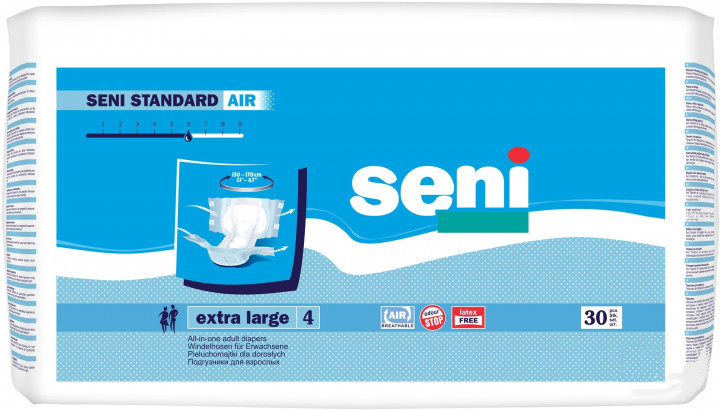 Подгузники для взрослых Seni Standard Air Extra Large 30 шт (5900516693619)