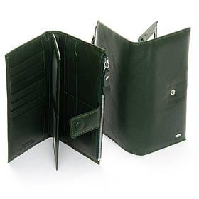 Кожаный кошелек DR. BOND WMB-1 dark-green