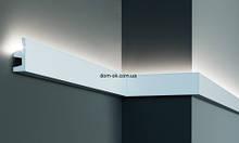 KF501 Flexi Молдинг полиуретановий гладкий гибкий для скрытого освещения 2 м