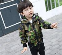Ветровка для мальчиков ARMY зеленая, фото 1
