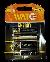 Батарейка сольова-цинкова АА R6P (для пультов и часов) (4 в блістері) (ціна за блістер/4) ИМПОРТ Ок