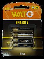 Батарейка сольова-цинкова ААА R03P (для пультов и часов) (4 в блістері) (ціна за бл/4шт) ИМПОРТ Ок