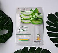 Тканинна маска з екстрактом листя алое Total solution aloe mask Meloso