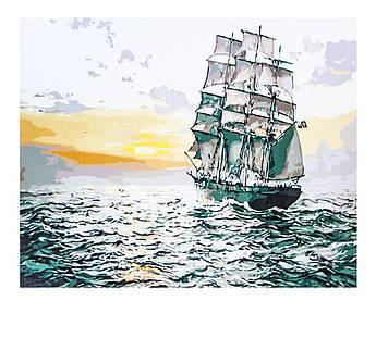 Картина по номерам Парусник, размер 50х65