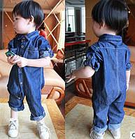 Стильный комбинезон джинс 3991, фото 1