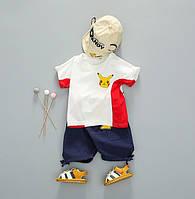 Летний костюм для мальчика белый 4023, фото 1