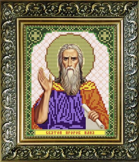 """Рисунок на ткани для вышивания бисером """"Святой Пророк Илия"""""""