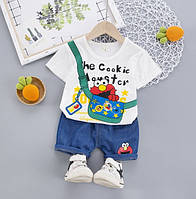 Костюм летний для мальчика белый The Cookie 4153, фото 1