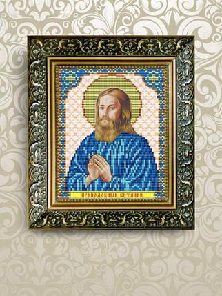 """Рисунок на ткани для вышивания бисером """" Преподобный Виталий Александрийский"""", фото 2"""