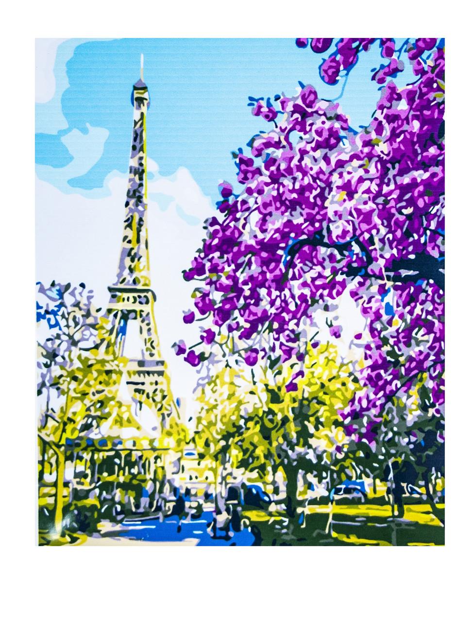 Картина по номерам Эйфелева Башня, размер 50х65