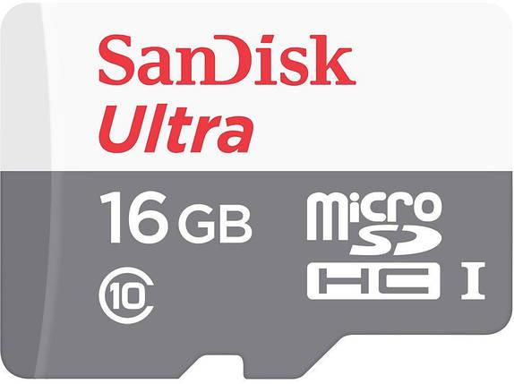 Карта памяти Micro SD 16GB/10 class SanDisk, фото 2