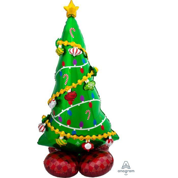 """А 59"""" Airloonz Christmas Tree. Фольгированный шар ходячка Новогодняя елка"""