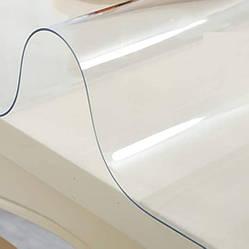 Силіконова скатертину М'яке скло Soft Glass Покриття для меблів 2.9х1.4м (товщина 0.4 мм) Прозора