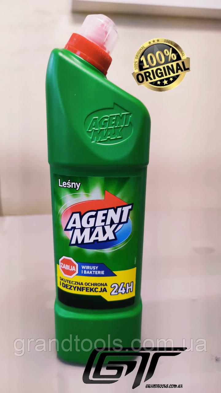 """Засіб для чищення унітазу Agent Max """"Лісовий"""", 1,1 л Польща"""