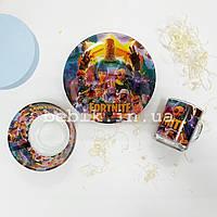 Подарунковий набір дитячого посуду Fortnite із скла