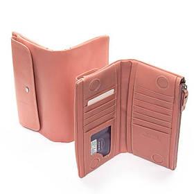 Женский кошелек из кожи DR. BOND WMB-4M pink