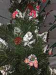 Искусственная Ель елка  Элит ПВХ  с калиной и шишками 1,5 м, фото 5