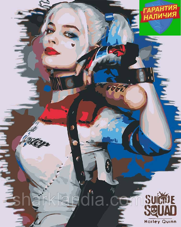 Картина по номерам Харли Квинн +Лак 40*50см Барви Супергерои Marvel Harley Quinn