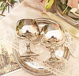 Два винтажных посеребренных бокала, серебрение по латуни, Испания, VALERO, фото 7