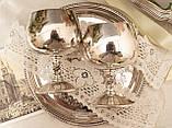 Два винтажных посеребренных бокала, серебрение по латуни, Испания, VALERO, фото 8