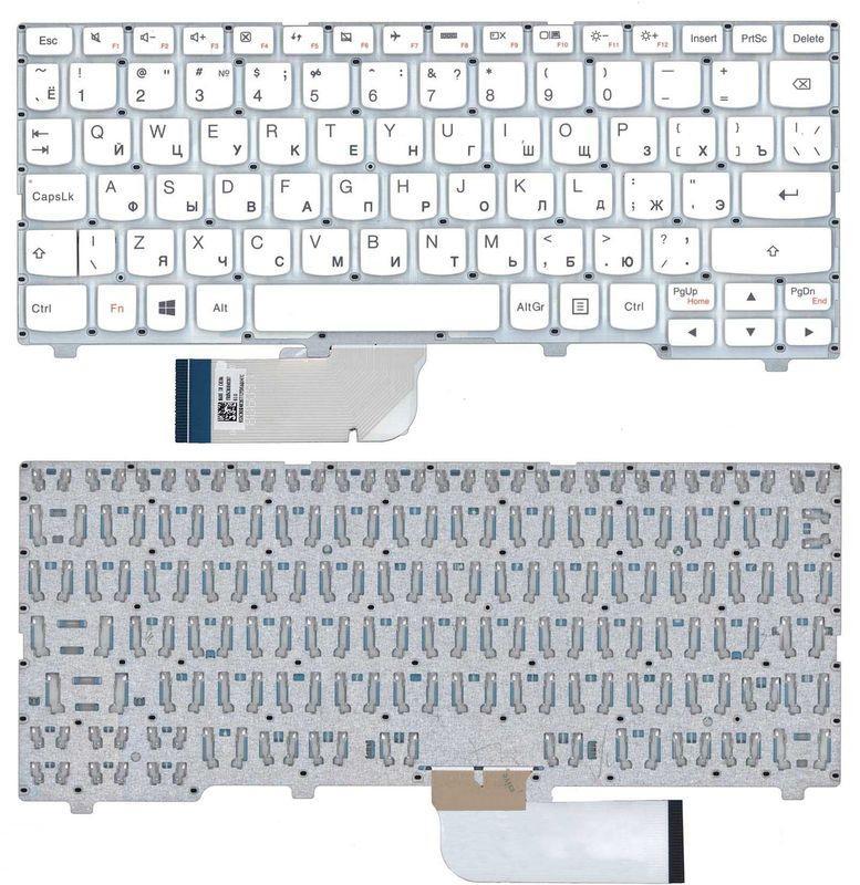 Клавиатура для ноутбука Lenovo IdeaPad (100S-11IBY) White (No Frame), RU