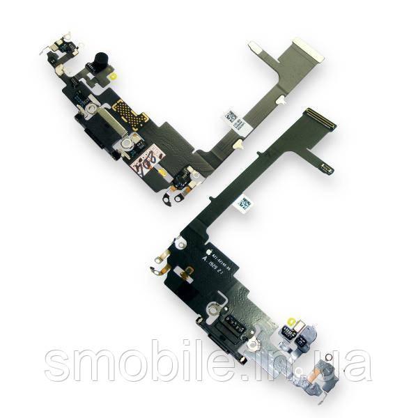 Шлейф iPhone 11 Pro с микрофоном и разъемом зарядки, черного цвета (оригинал)