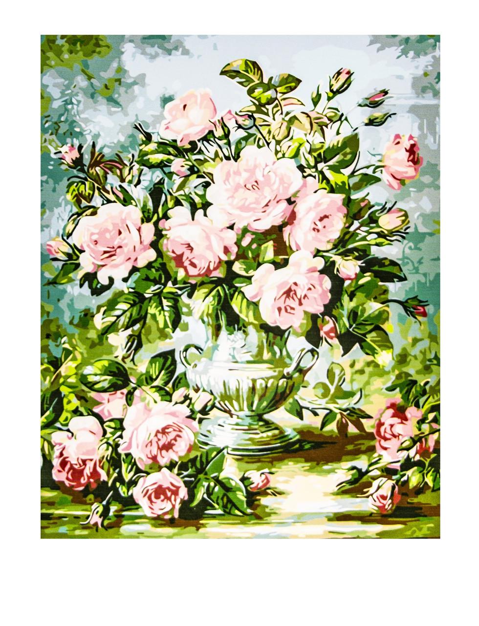 Картина по номерам Цветы, размер 50х65
