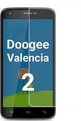 Защитное стекло Doogee Valencia 2 Y100 Pro (Прозрачное 2.5 D 9H) (Дуги Валенсия 2 Вай У100 Про)