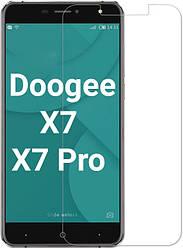 Защитное стекло Doogee X7 / X7 Pro (Прозрачное 2.5 D 9H) (Дуги Х7 Про)