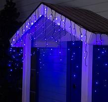 Электрическая гирлянда Штора Дождик конус 180 LED 5 м * 0.6 м, синяя