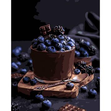 Картина по номерам 40×50 см. Идейка (без коробки) Соблазнительный десерт (КНО 5574)