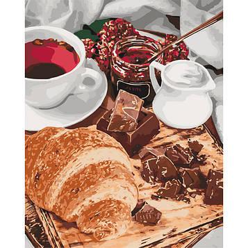 Картина по номерам 40×50 см. Идейка (без коробки) Французский завтрак (КНО 5573)