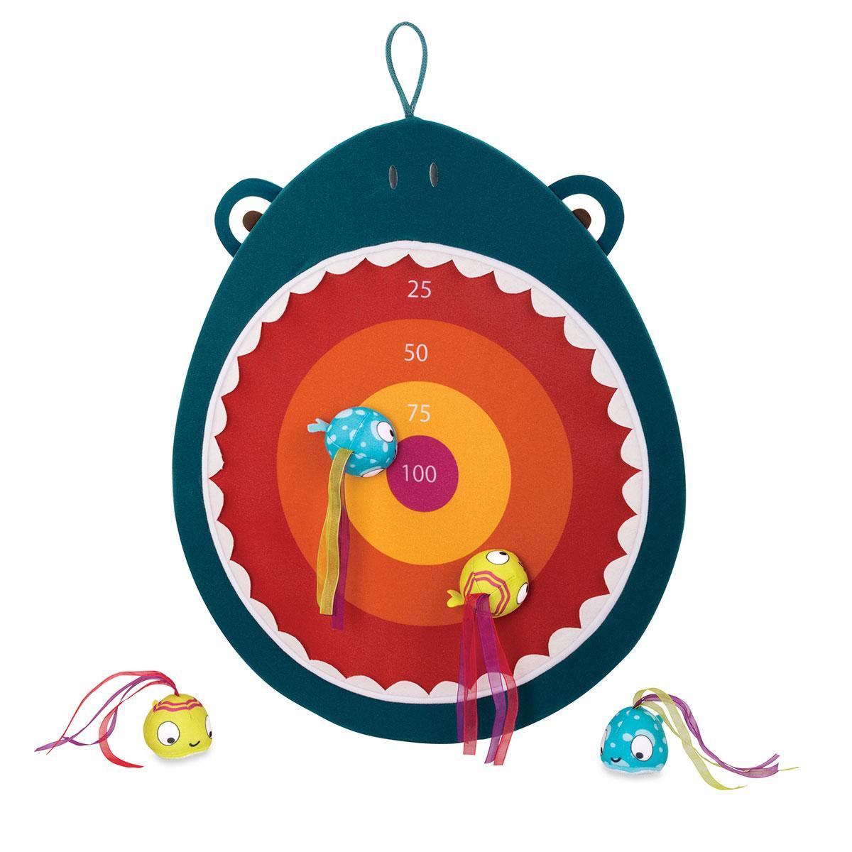 Развивающая Игра С Мишенью - Голодная Акула Battat Hungry Toss Shark Toys - Kids Dart Board BX1638Z