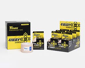 Динамічний тейп Tmax 4 Way Tape X 5cm 5m (бежевий), фото 2