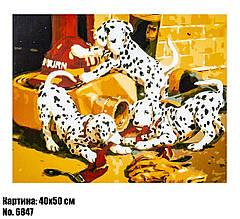 Картина по номерам Далматинцы