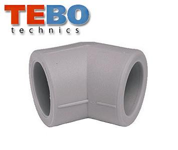 Угол TEBO 63х45° полипропиленовый