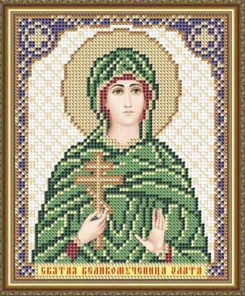 """Рисунок на ткани для вышивания бисером """"Святая Великомученица Злата"""", фото 2"""