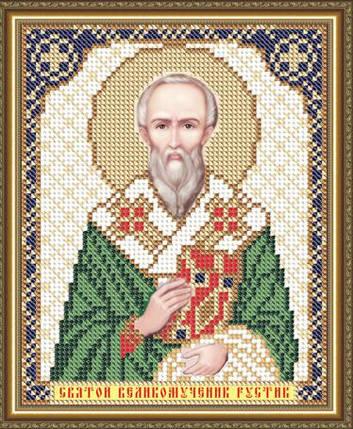 """Рисунок на ткани для вышивания бисером """"Святой Великомученик Рустик"""", фото 2"""