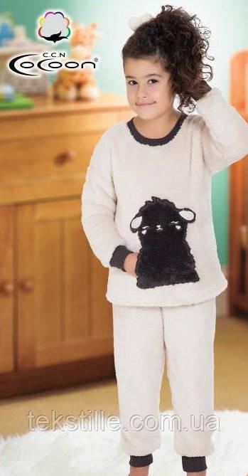 Піжама для дівчаток махрова на манжетах Coccon 5-6 років