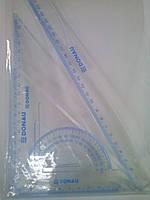 Набор линеек для черчения (4 предмета), линейка 30см, DONAU