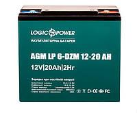 Аккумулятор Тяговый LogicPower 20 Ач 12 V Свинцово-Кислотный AGM LP 6-DZM-20