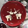 Новогодние тарелки  Олени Ø 22 см, керамика