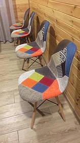 Стул обеденный Тауэр Вуд Р, ножки Бук, ткань Цвет Пэчворк (СДМ мебель-ТМ)