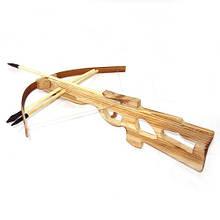 Игрушка арбалет со стрелами из дерева