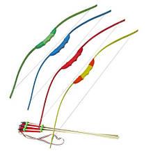 Игрушечный лук со стрелами цветной