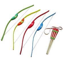 Лук деревянный детская игрушка со стрелами