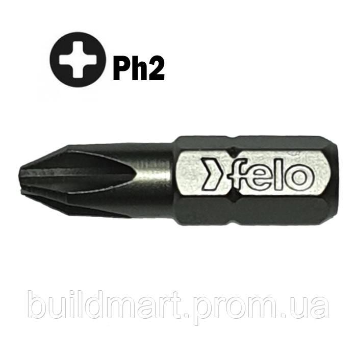 Насадка для шуруповерта PZ2 25 мм. Felo