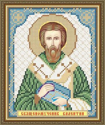 """Рисунок на ткани для вышивания бисером """"Священомученик Валентин"""" , фото 2"""