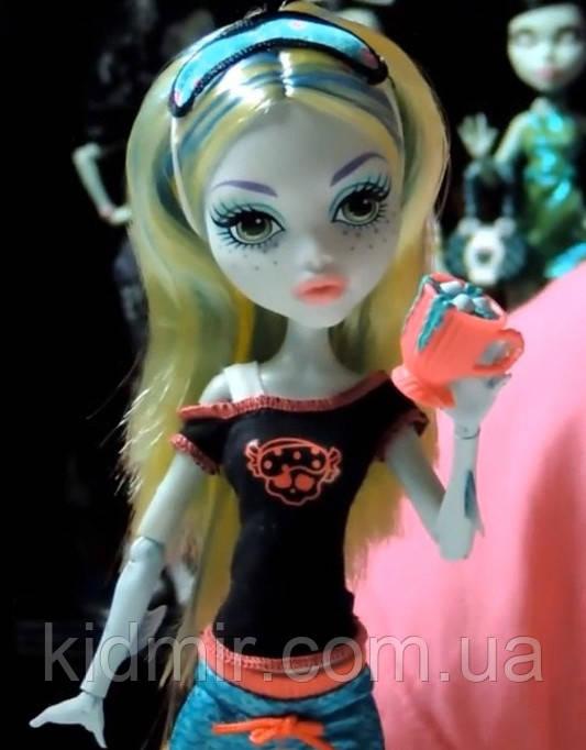 Кукла Monster High Лагуна Блю (Lagoona Blue) Пижамная вечеринка Монстер Хай Школа монстров